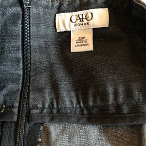 Cato Skirts - Cato circle denim skirt
